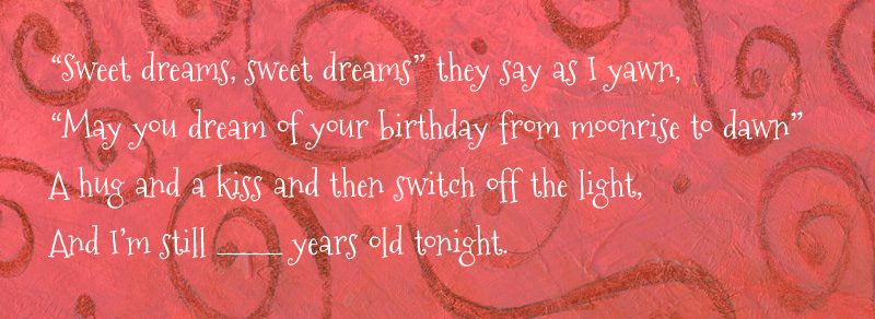 The Night Before My Birthday Book Excerpt