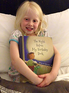 Girl with Night Before My Birthday Book